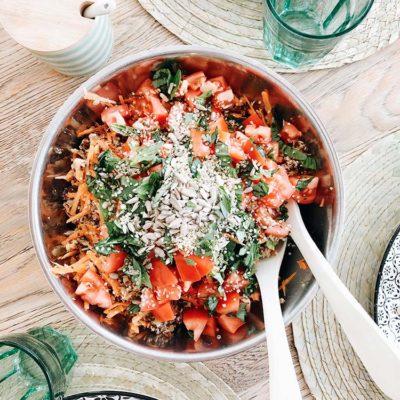 Salade croquante aux lentilles & quinoa